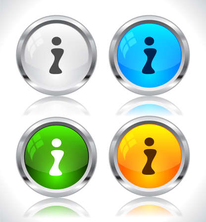 Metal web buttons. Vector illustration. Stock Vector - 9107295