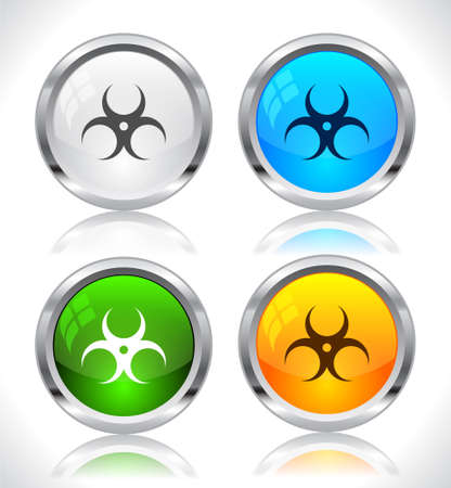 Metal web buttons. Vector illustration. Stock Vector - 9107320