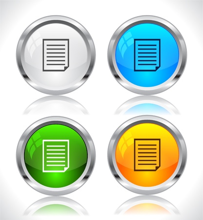 Metal web buttons. Vector illustration. Stock Vector - 9107315