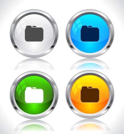 Metal web buttons. Vector illustration. Stock Vector - 9107312