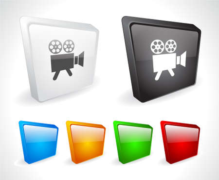 Color 3d buttons for web. Vector Stock Vector - 9107580