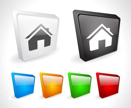 Color 3d buttons for web. Vector Stock Vector - 9107425