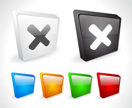 Color 3d buttons for web. Vector Stock Vector - 9107439