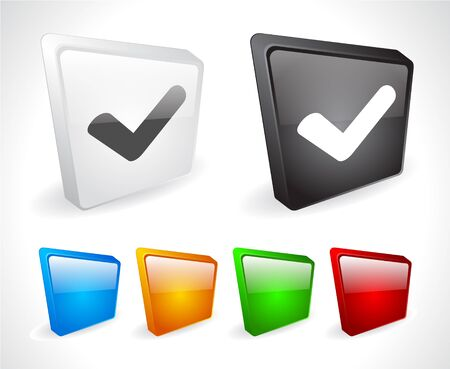 Color 3d buttons for web. Vector Stock Vector - 9107434
