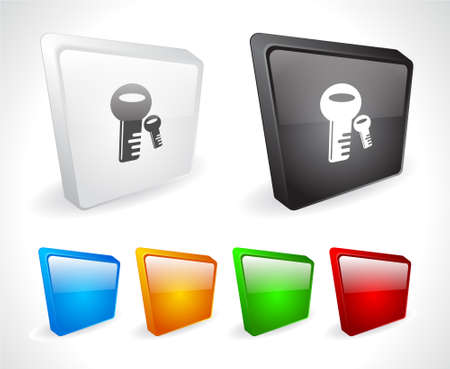 Color 3d buttons for web. Vector Stock Vector - 9107511