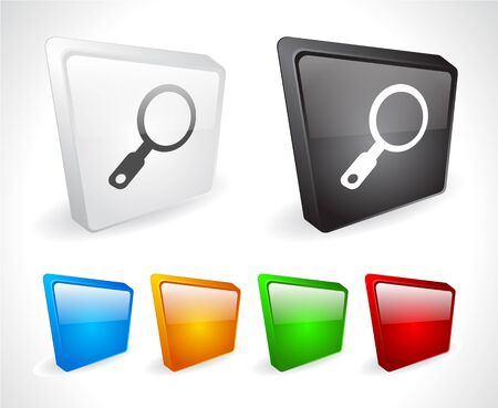Color 3d buttons for web. Vector Stock Vector - 9107490