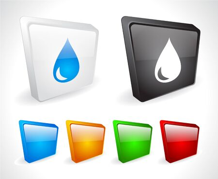 Color 3d buttons for web. Vector Stock Vector - 9107505