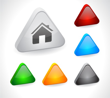 Color 3d buttons for web. Vector Stock Vector - 9107510