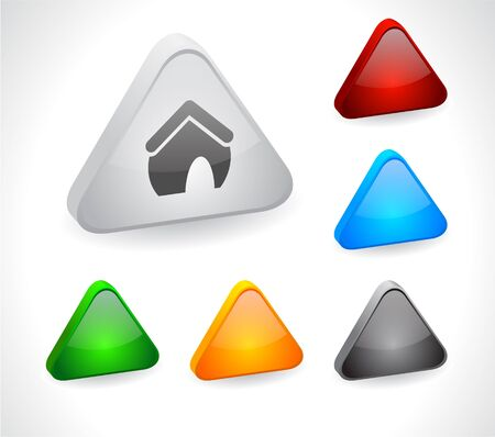Color 3d buttons for web. Vector Stock Vector - 9107514