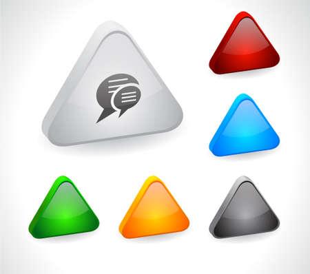 La couleur des boutons 3d pour le web. Vecteur Vecteurs