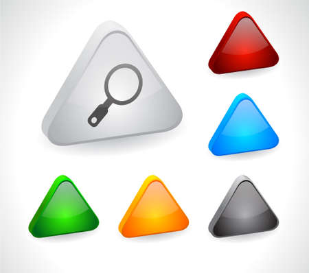 Color 3d buttons for web. Vector Stock Vector - 9107557