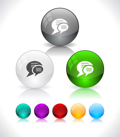 Glossy colorful abstract glass balls. Vector