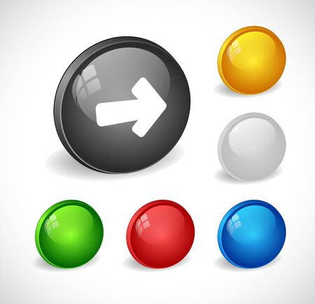 La couleur des boutons 3d pour le web. Vecteur