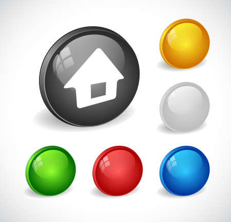 Color 3d buttons for web. Vector Stock Vector - 9115843