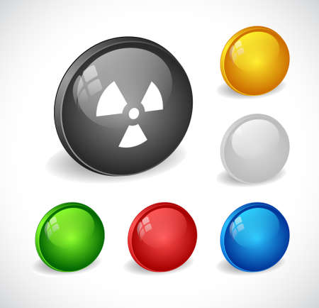 Color 3d buttons for web. Vector Vector