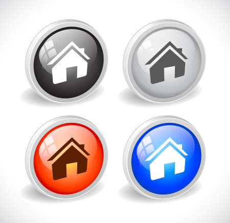 Color 3d buttons for web. Vector Stock Vector - 9115759