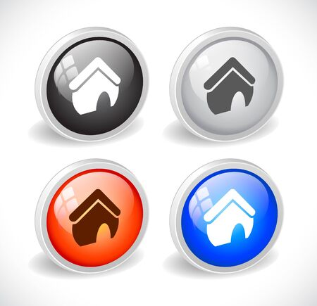 Color 3d buttons for web. Vector Stock Vector - 9115790