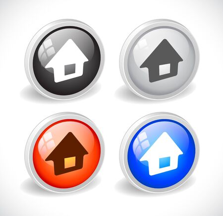 Color 3d buttons for web. Vector Stock Vector - 9115774