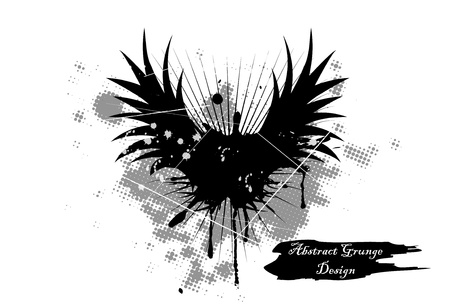 wings grunge: Vector illustration of abstract grunge background Illustration