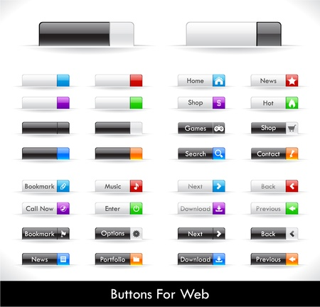 Set of buttons for web.