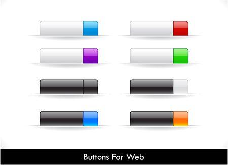 pesta�as: Conjunto de botones para Web