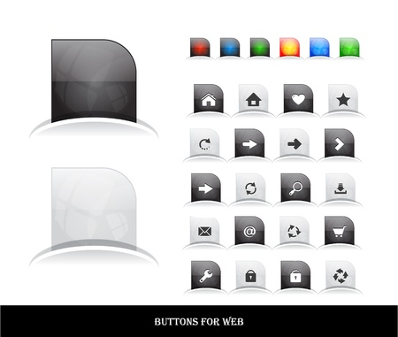 Set of buttons for web. Vector