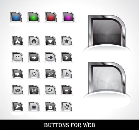 Set of buttons for web. Stock Vector - 9354421