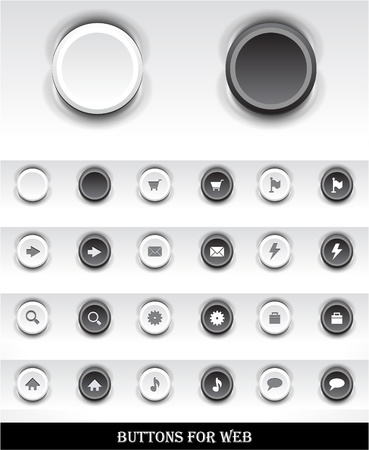 Set of buttons for web. Stock Vector - 9354502