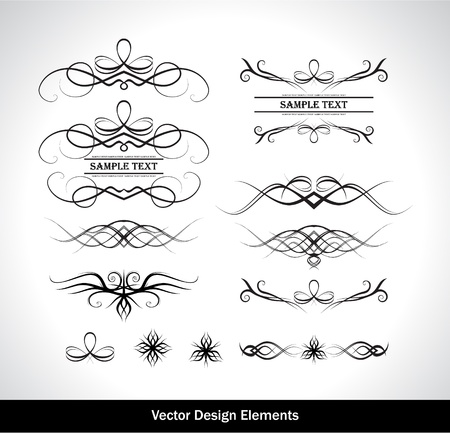 Vector set of design elements. Vector illustration Stock Vector - 9354407