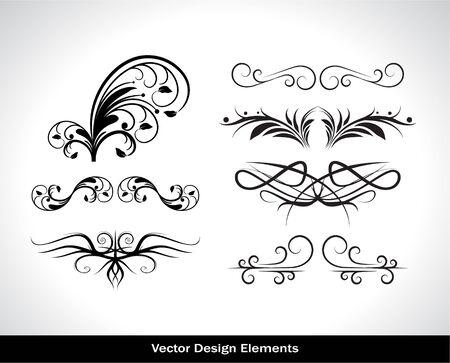 Vector set of design elements. Vector illustration