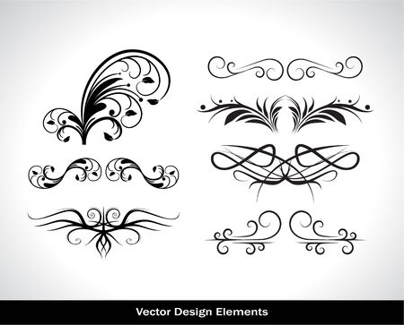 Vector set of design elements. Vector illustration Vector