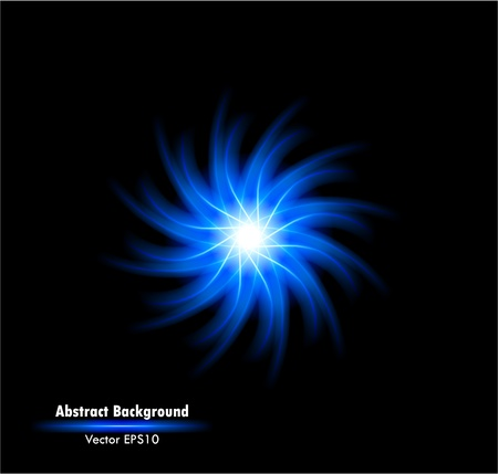 flash light: Vector illustration of futuristic blue abstract glowing background