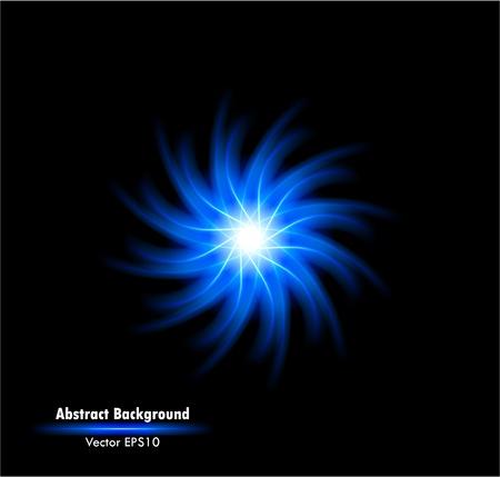 funken: Vektor-Illustration der futuristischen blue abstract gl�hend hintergrund