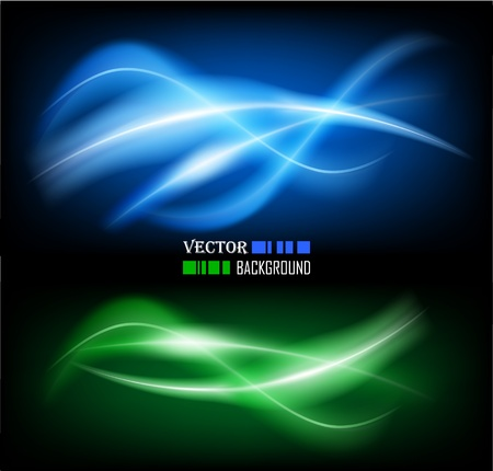 futuristic nature: Vector illustration of futuristic color abstract glowing background