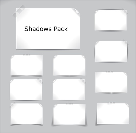 Set of different complex shadows. Vector illustration.