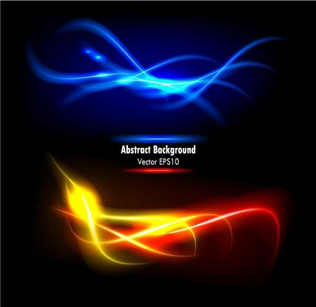 effetti di luce: Illustrazione vettoriale di colore di sfondo futuristico astratto incandescente