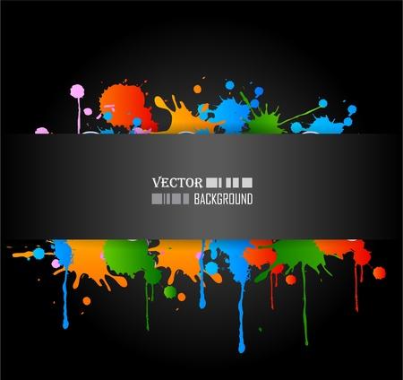 cool backgrounds: Colour cool grunge music poster. Vector illustration. Illustration