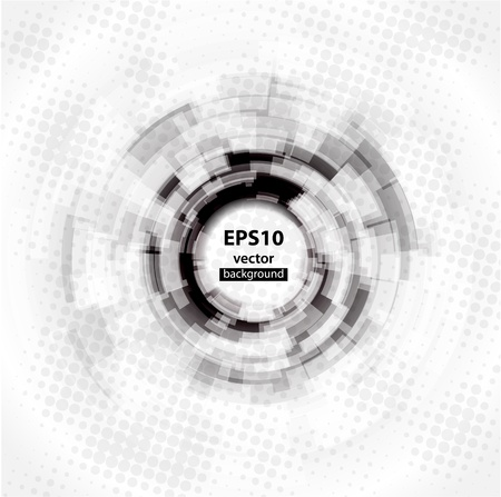 Abstract Techno Circle background. Vector Eps 10.