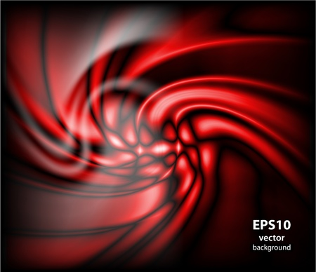 abstract energy formation - red theme.  Illustration