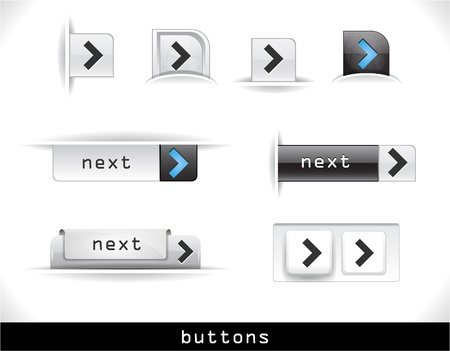 Set of grey buttons.  Vector