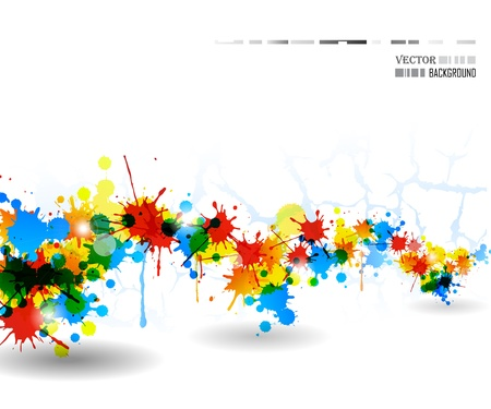 Colour cool splash light poster. Vector illustration.