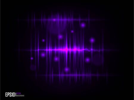 purple glasses: Vector illustration of futuristic abstract glowing background