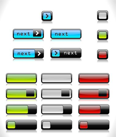 Set of color buttons. Vector eps10  illustration.