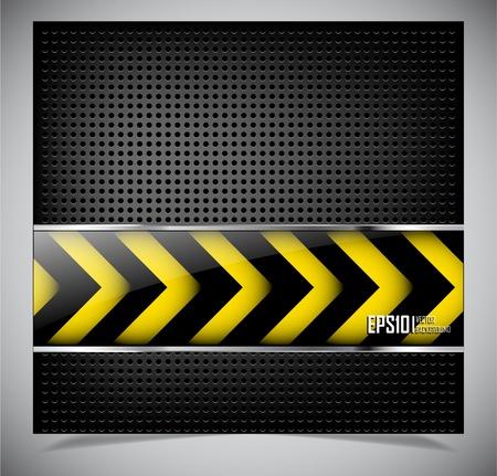 hazardous sign: Dark metallic abstract background. Vector illustration eps10