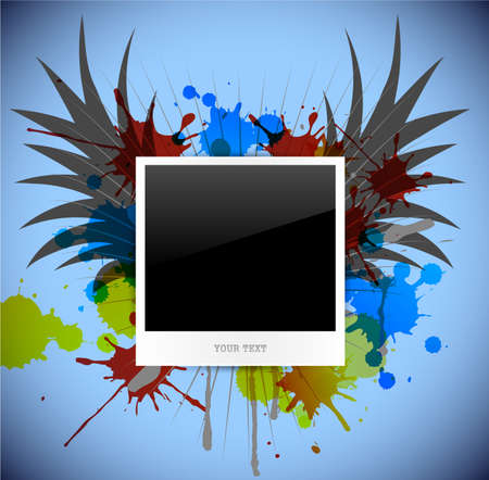 empty photo on abstract background. Vector illustration Vector