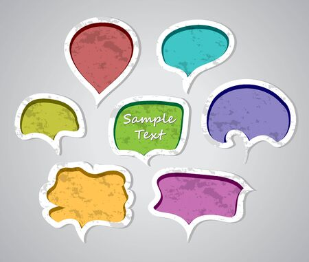 Set of speech bubbles illustration Vector