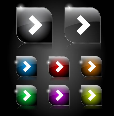 Set of buttons for web illustration. Vector