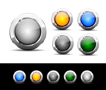 Set of buttons for web photo