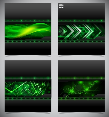 neon green: Smooth colorful abstract techno backgrounds Stock Photo