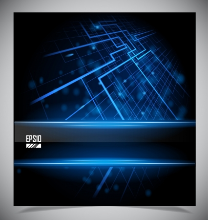 Smooth colorful abstract techno background Stock Photo